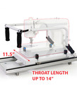 Grace G Series Top & Bottom Plate Platform Carriages +Front and Back Handles for Home Sewing Machines on Continuum, GMQ Pro, Gracie, NextGen, Pinnacle