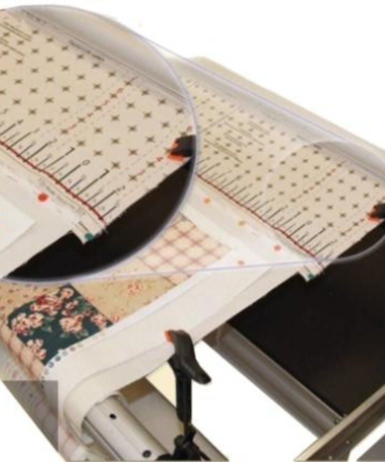 """Grace 01-11566 Cotton Precision Cloth 2 Leaders 88"""" Grid +Velcro for Q Zone Queen Frame"""