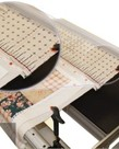 """Grace GFCL Start Right 112"""" Gridded Cotton Cloth 3 Leaders +Velcro Strip Attachments for Fabrics on Queen Size Quilting Frame Rails"""