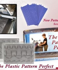 Grace GC-PP-01 Basic Set: Plastic Pattern Perfect: 10 Templates, 8 Designs, with 4 Patterns on Each Side +Pen Stylus for Frames with Table Inserts