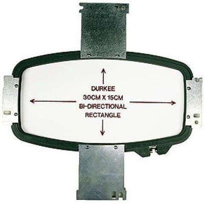 Durkee Durkee 11.75 X 6 (30cm x 15cm) Rectangular Bi-Directional Hoop, 400MM Needle Spacing, Meistergram Compatible