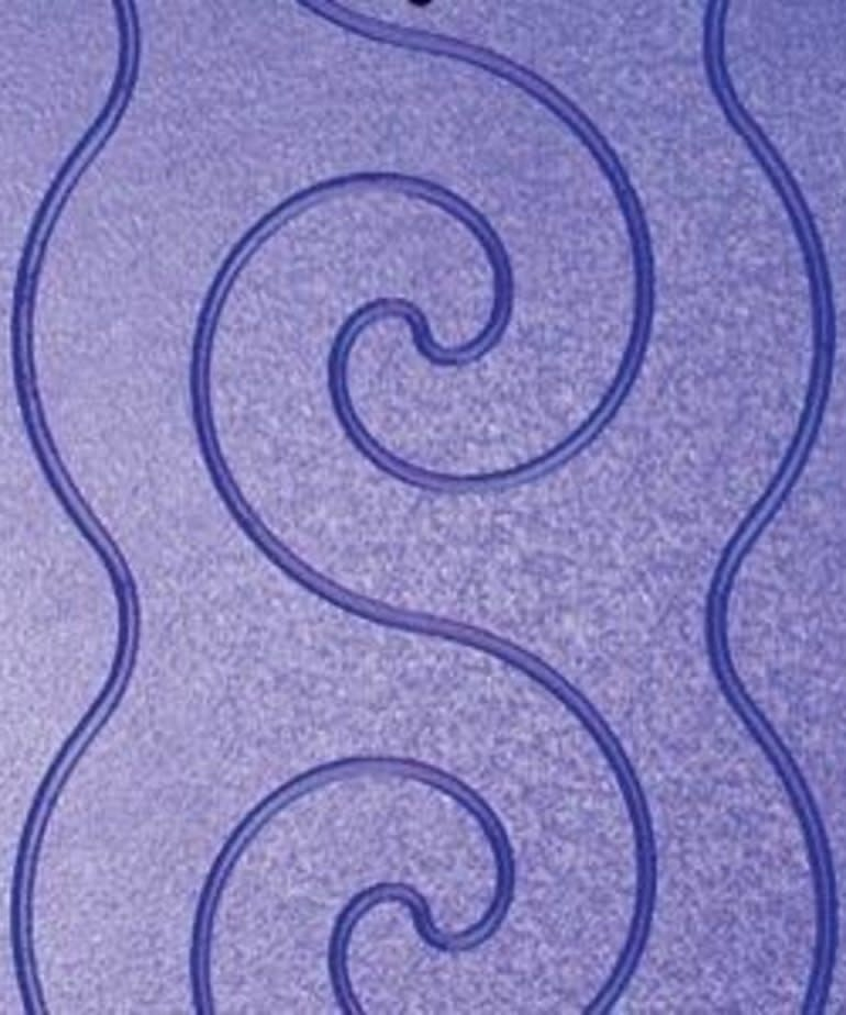 Grace Grace Pattern Perfect Grooved Templates, Spiral Design, 3 Plates for Grace Machine Quilting Frames
