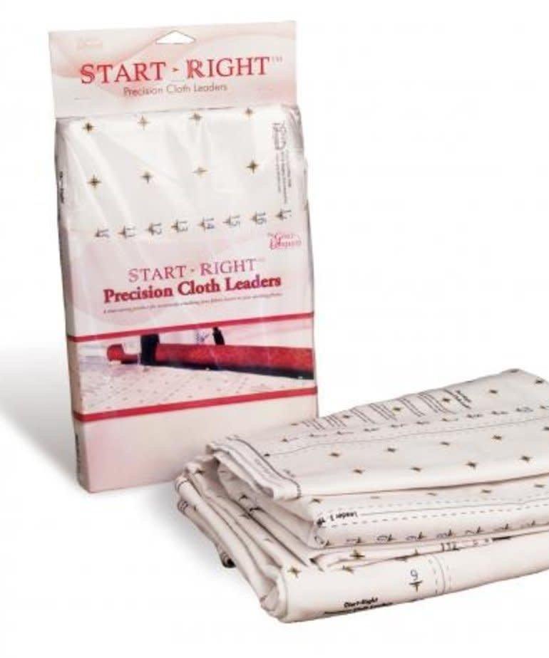 Grace 01-13370 Q Zone Hoop Grid Quilt Frame Cotton Precision Cloth 2 Leaders +Velcro