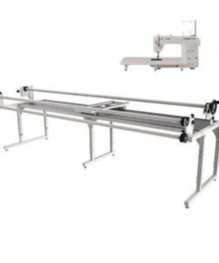 Grace 8-10' Continuum Metal Quilting Frame +Juki TL2010Q Machine +Top Plate Carriage/Handles +Speed Control Box +Laser Stylus