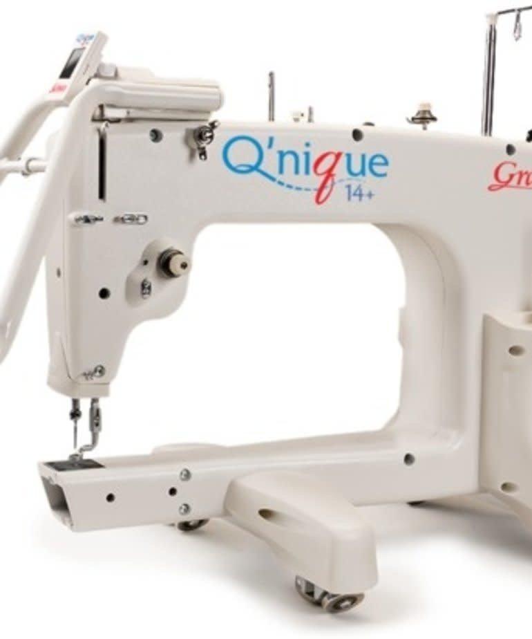 "Grace Grace Qnique 15R 15x8"" Longarm Quilting Machine Head 1800SPM, V Track Rollers, Stitch Reg, Encoders, Front Handles, LED Touch Panel, M Bobbins"
