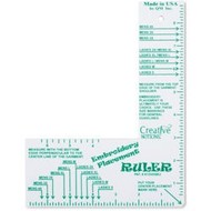Tacony Embroidery Placement Ruler-Adult