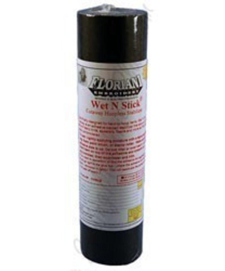 "Floriani Floriani's Wet N Stick Cutaway BLACK 2oz. 12"" x 10 yds"