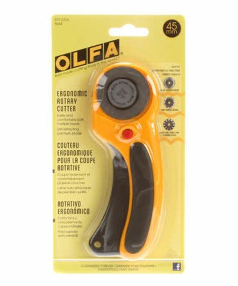 Checker OLFA 45mm Deluxe Ergonomic Rotary Cutter