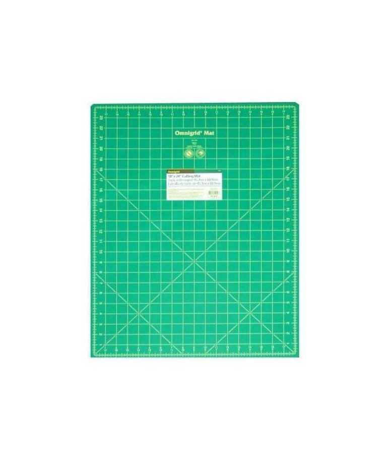 Checker Cutting Mat Omnigrid Green with Yellow Grid 18in x 24in