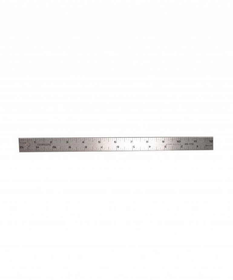 "Fairgate Fairgate 12"" English rule. Fairgate rules and scales are manufactured from the highest quality hard, tempered aluminum to provide years of reliable service. These precision tools resist breaking and they are light for comfortable use and easy portabi"