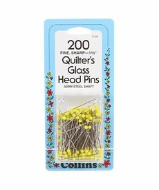 Prym Consumer Usa Inc Glass Head Yellow Pin SZ23-1 3/8in 200ct