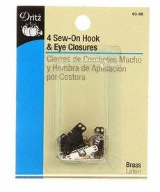 Prym Consumer Usa Inc Sew-On Hook and Eye Closures Pant/Skirt Asst 4ct