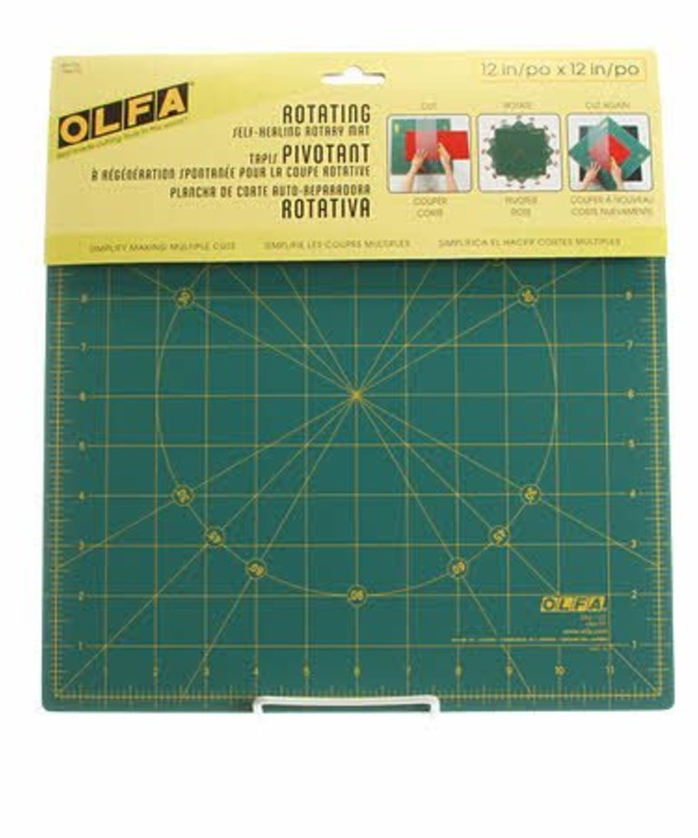 Checker Spinning Square Cutting Mat 12in