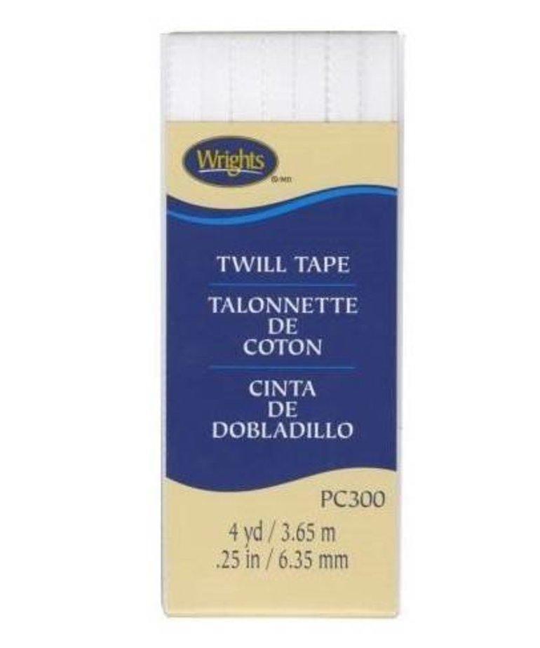 Checker Twill Tape 1/4in White