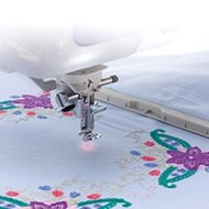 Brother Drop Light Embroidery Foot with LED Pointer, -VM5100, VE2200, VM6200D