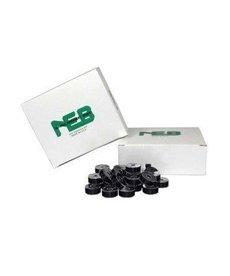 NEBS NEBS plastic sided prewound L Black bobbin 144ct
