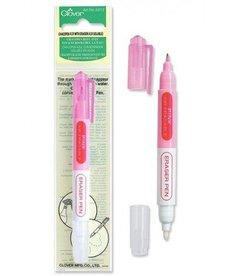 Clover Chacopen Pink Air Erasable Dual Tip Pen With Eraser