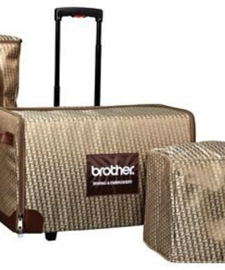 Brother Custom Fashion rolling Luggage and Soft Cover for V Series