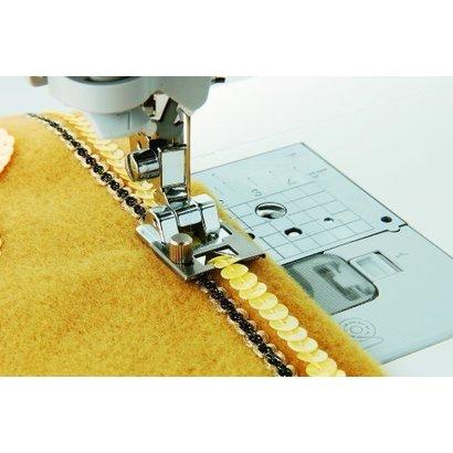 Brother up to 5 mm width Braiding Foot . Fits all Brother home-use sewing machines; including the NV6000D