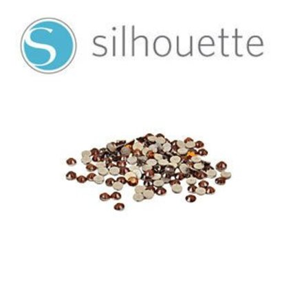 Graphtec Silhouette Rhinestone Amber 16SS 350 pieces