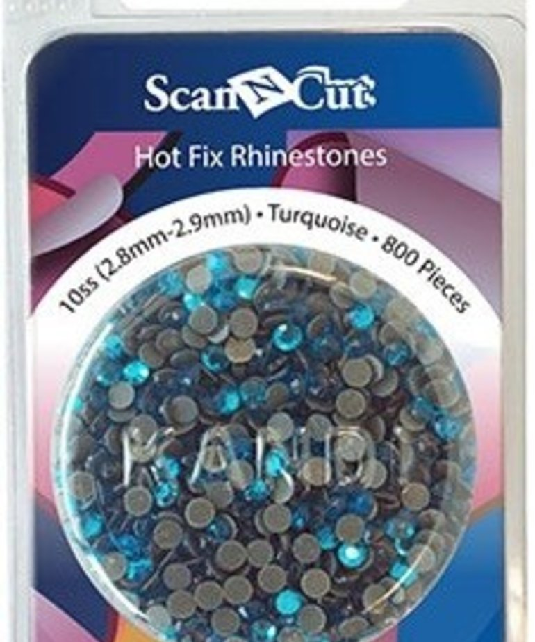 Brother Turquoise Rhinestones 10ss Refill Pack