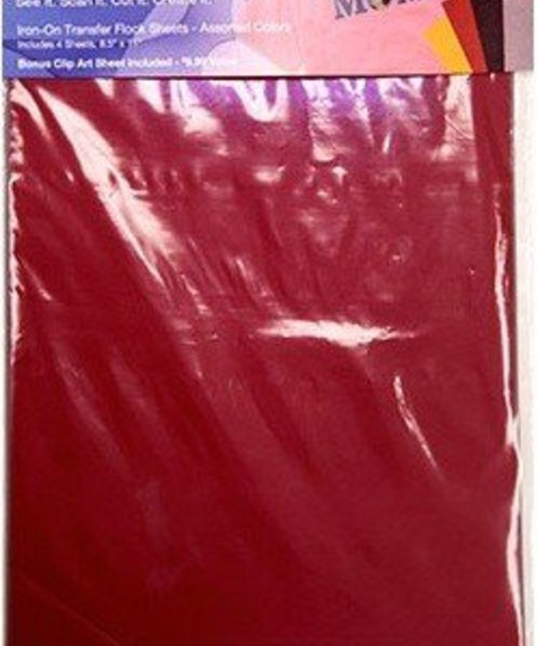 Brother Iron-on Sheet - Flocked 4 Colors