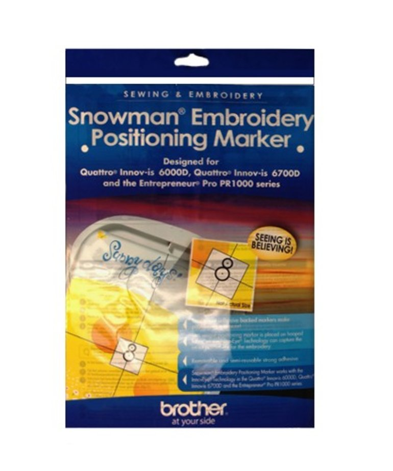 Brother NEW ! Snowman Stickers for NV and PR Models