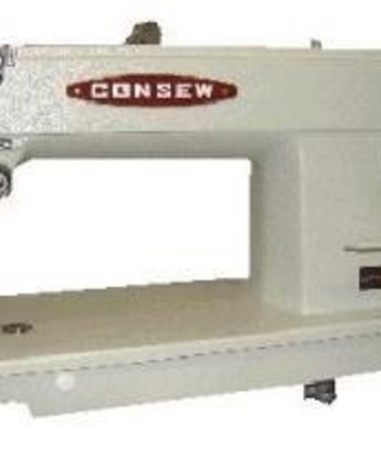 Consew 205RB Walking Foot Top Bottom Feed Upholstery Sewing Machine with Power Stand