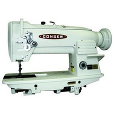 "Consew Consew 255RB-3 Walking Foot Needle Feed Sewing Machine, Stand, 10""Arm, 9/16""Lift, 4SPI, Safety Clutch, Drop In Vertical Axis Bobbin 15041, 3000RPM"