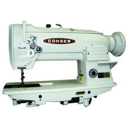 """Consew 255RB-3 Walking Foot Needle Feed Sewing Machine, Stand, 10""""Arm, 9/16""""Lift, 4SPI, Safety Clutch, Drop In Vertical Axis Bobbin 15041, 3000RPM"""