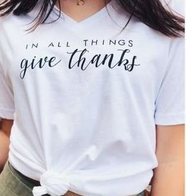 Vintage Soul In All Things Give Thanks Tee