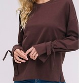 Listicle The Lissie Tie Sleeve Shirt