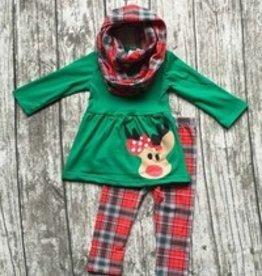 Honeydew Christmas Plaid Reindeer 3 Piece Set