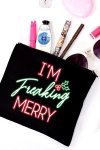 Colorbear Im Freaking Merry Pouch
