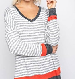 143 Story Hacci Brushed Stripe Top