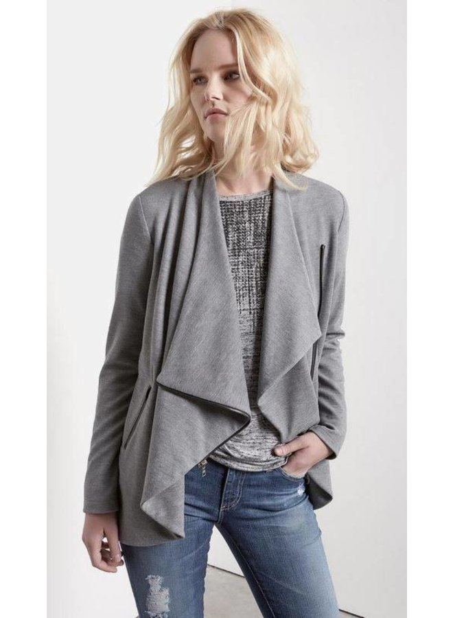Asymmetrical Zip Crop Jacket