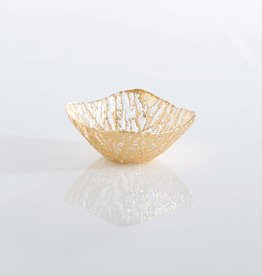 Shiraleah Gold Glacier Square Dessert Bowl