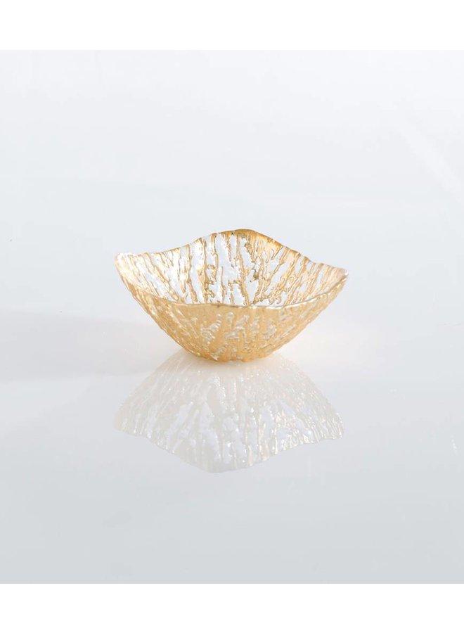 Gold Glacier Square Dessert Bowl