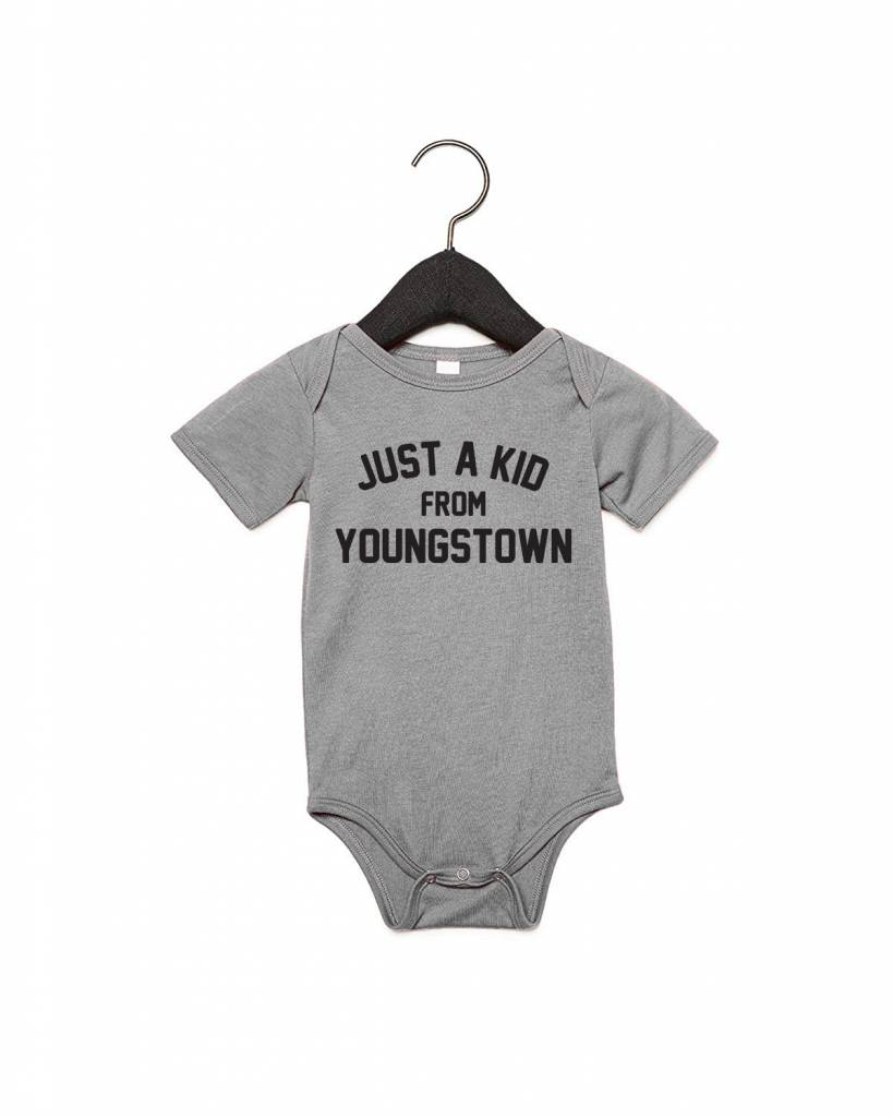 Pop's Printed Apparel Just a Kid from Youngstown Onesie -