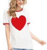 Zutter Heart Shape Graphic Tee