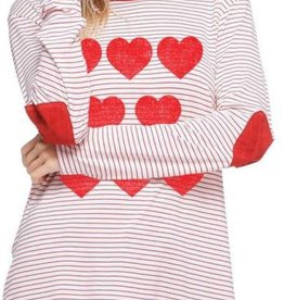 Zutter Hearts and Stripes Valentine Top