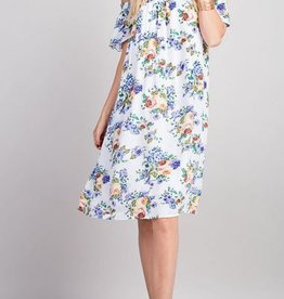 143 Story Floral Off the Shoulder Dress