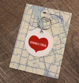 Rock Scissor Paper Youngstown Heart Keyfob