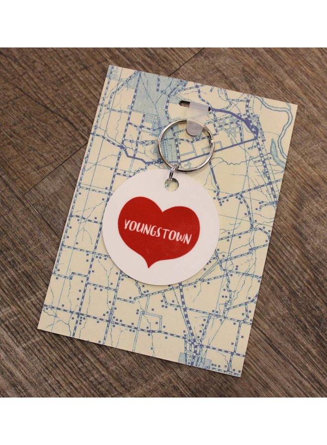 Youngstown Heart Keyfob