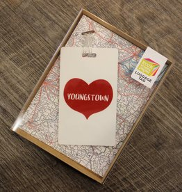 Rock Scissor Paper Youngstown Heart Luggage Tag