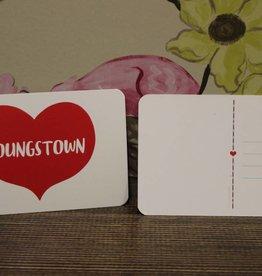 Rock Scissor Paper Youngstown Heart Postcard