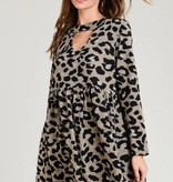 Jodifl Animal Print Key Hole Dress
