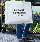 24 Carrot Canvas Tote - Please Romaine Calm Tote