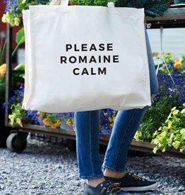 24 Carrot Canvas Tote - Please Romaine Calm Tote