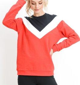 Mono B Alex Chevron Sweater